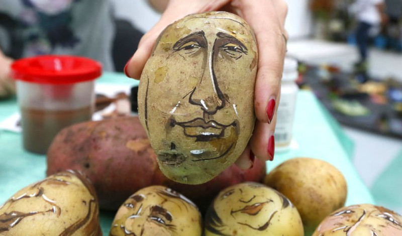 Картофель — произведение искусства.