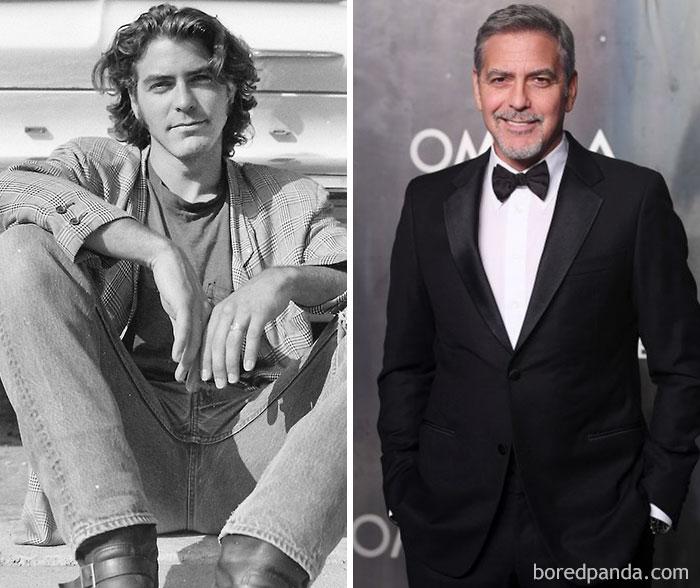 Будущий самый красивый мужчина в мире Джордж Клуни успел поработать продавцом женской обуви, страхов