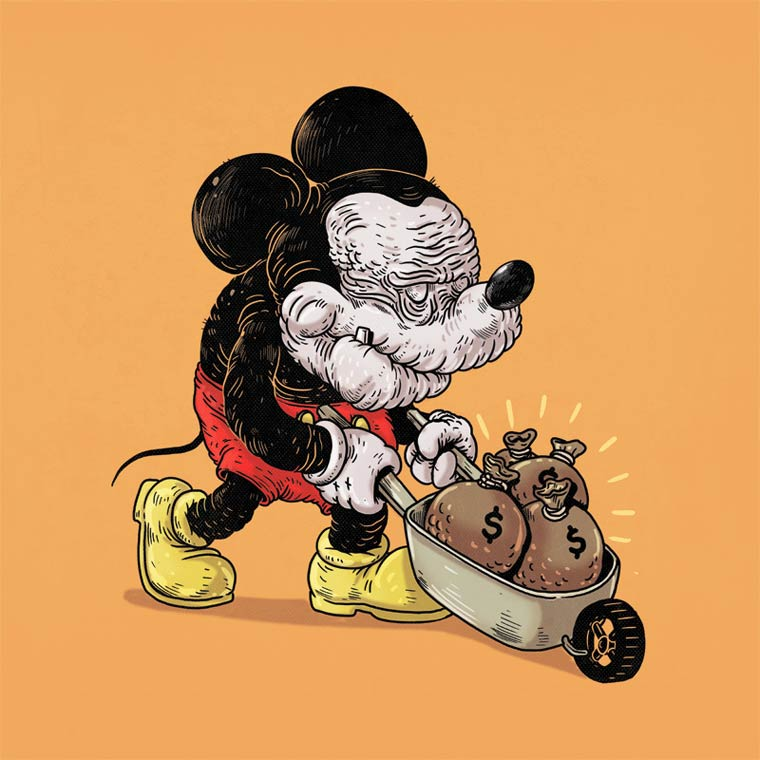 Famous Oldies - When famous characters of pop culture become old