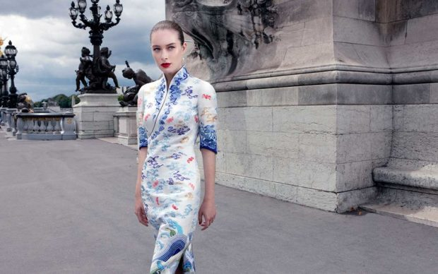 Hainan Airlines Unveils Couture Uniforms During PARIS COUTURE (7 pics)