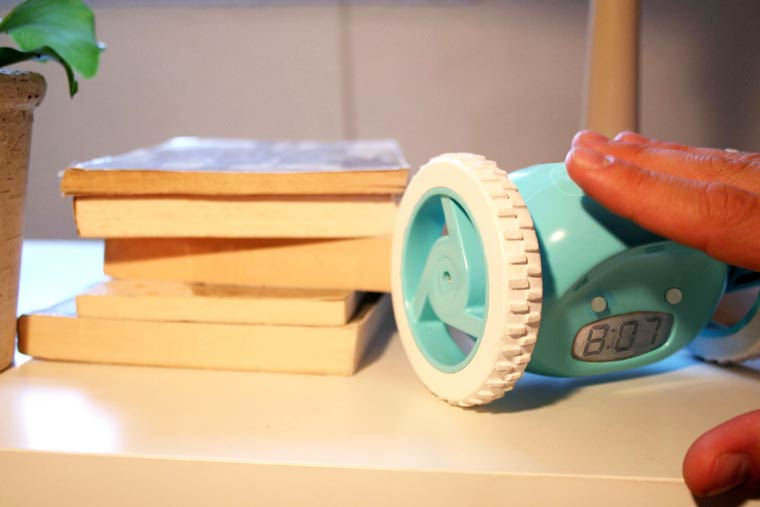 Clocky - A motorized alarm clock that runs away to get you out of bed