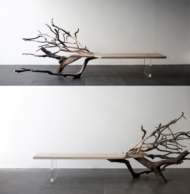 Fallen Tree Bench by Benjamin Graindorge (4 pics)