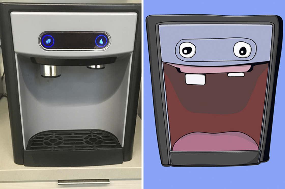 Il dessine les visages qu'il voit dans les objets du quotidien