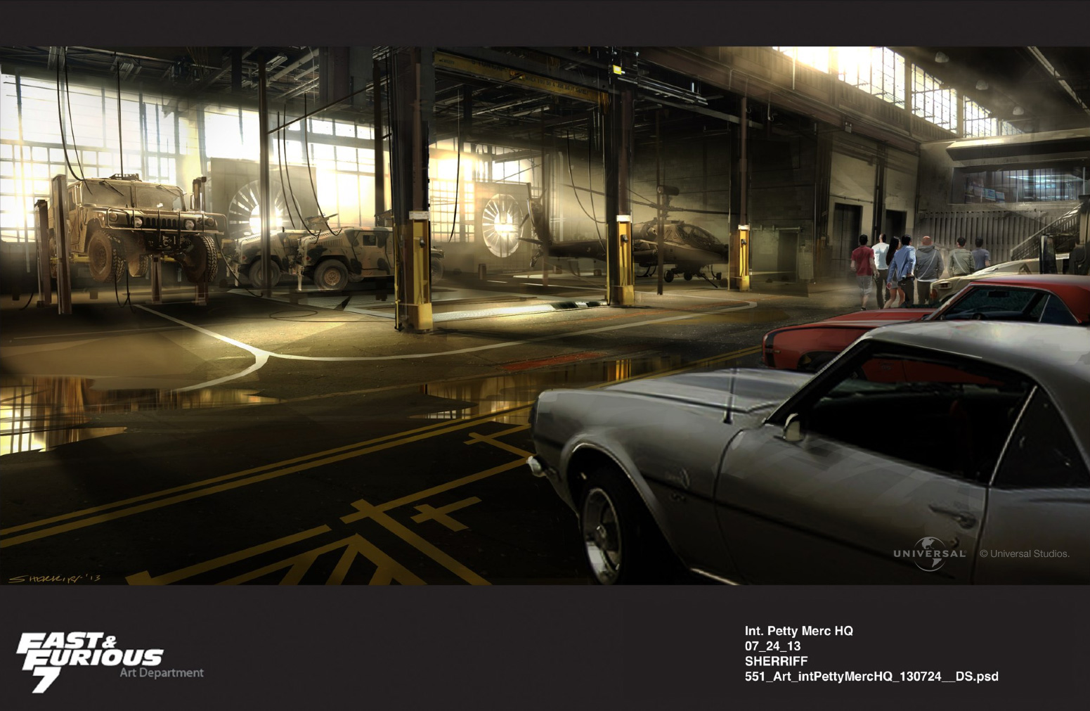 Furious 7 Concept Art by Dean Sherriff