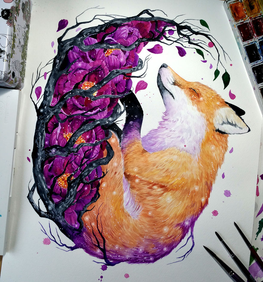 Watercolor Paintings of Animals Revealing Their Inner Beauty (20 pics)