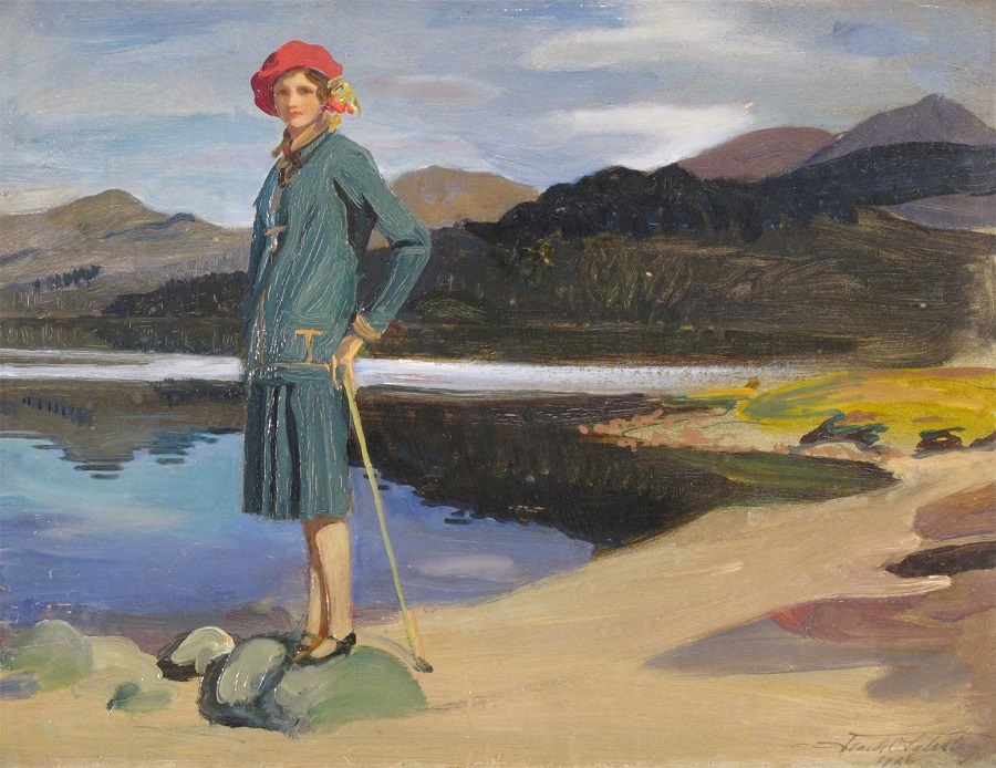 The artist's daughter Sylvia at Glen Affric, 1926.Jpeg