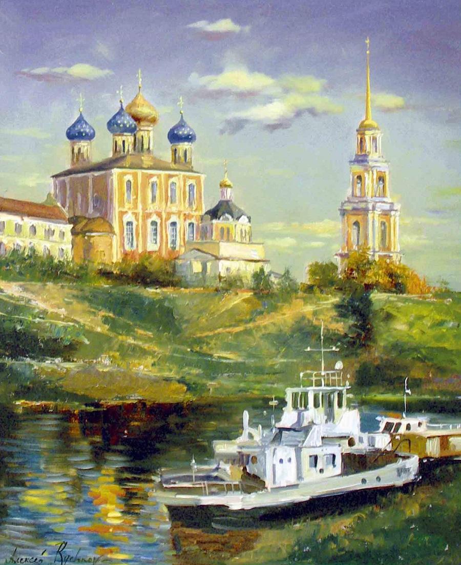 Вид на Рязанский Кремль и Успенский Собор (Рязань).jpg