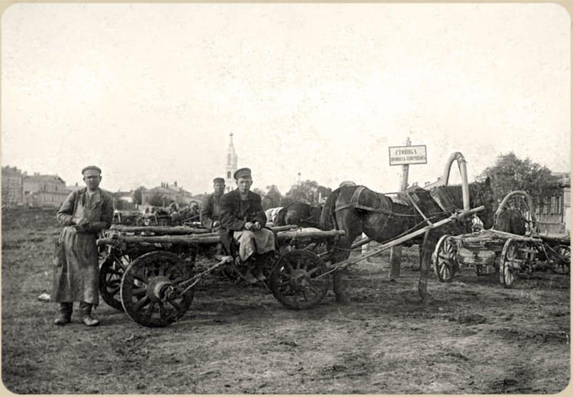 Стоянка ломовых извозчиков на Сенной площади
