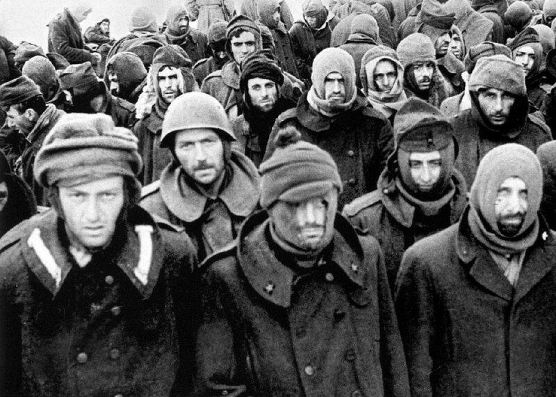 Пленные итальянские солдаты в Сталинграде