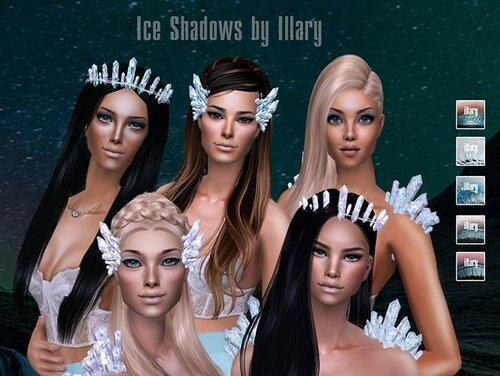 Icy eyeshadows by Illary