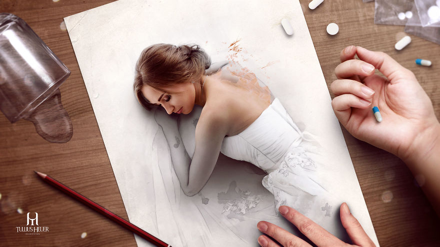 Realistic digital paintings by a brazilian artist