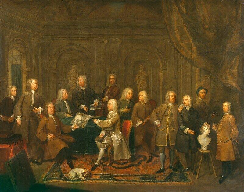 'Разговор Virtuosis...в руках королей на трус Хэмилтон маслом на холсте, 1735