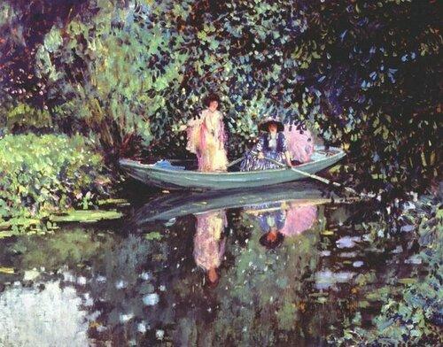 Frederick Carl Frieseke 1874 –1939   Дамы в лодке, ок.1905