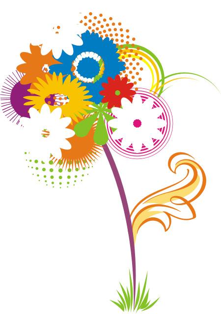 Поздравляем с днем машиностроителя. Стилизованные цветы открытки фото рисунки картинки поздравления