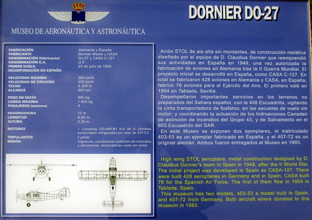Dornier Do 27 (Museo del Aire, Madrid)