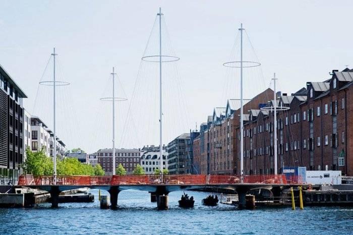 Cirkelbroen – необычный пешеходный мост в Дании