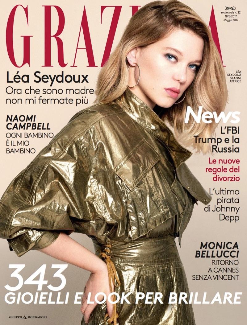 Леа Сейду на обложке Grazia Italy