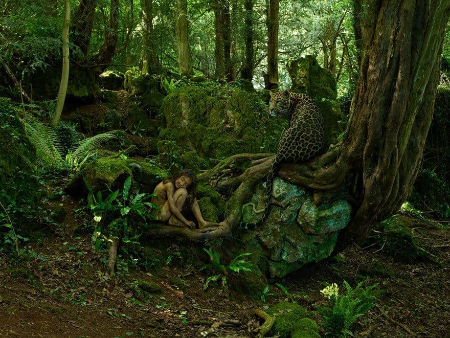 Мальчик, воспитанный самкой леопарда (Индия, 1915 год) В 1915 году охотник, убивший самку леопарду,