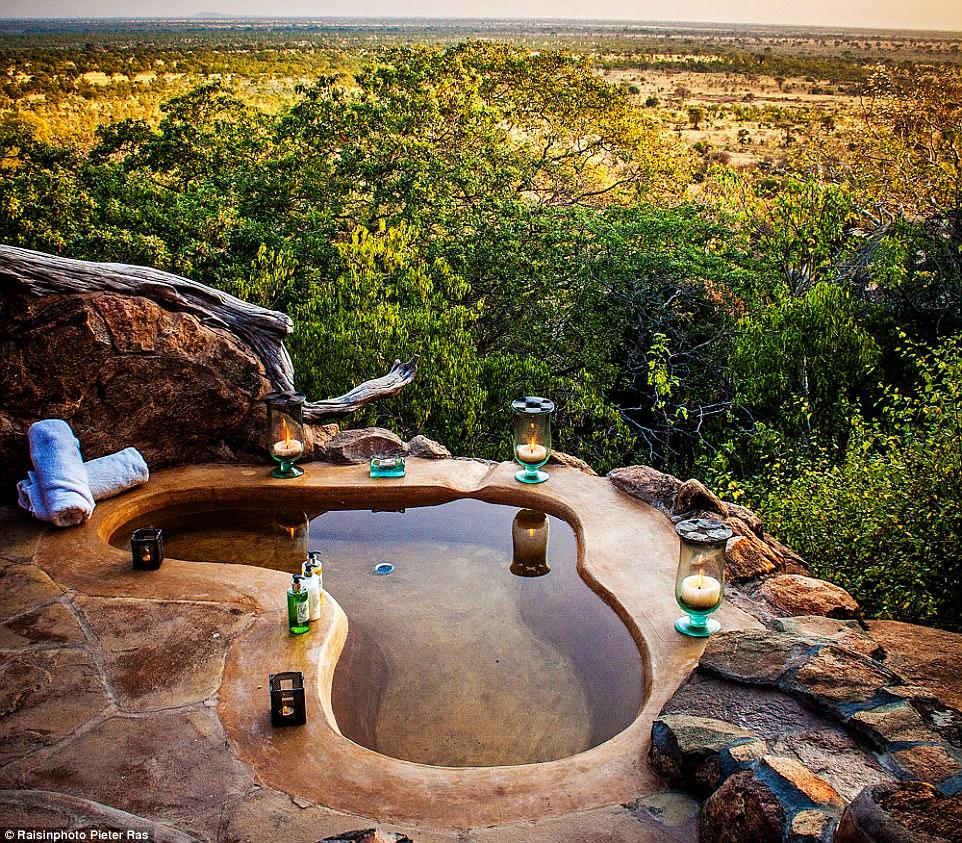 4. Гидромассажные ванны в высокогорье Тасмании. Не поскользнись!