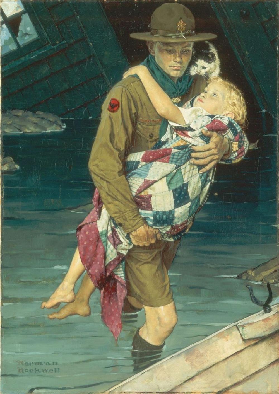 Норман Роквелл непросто рисовал американскую жизнь. Онпроповедовал общечеловеческие ценности, онв