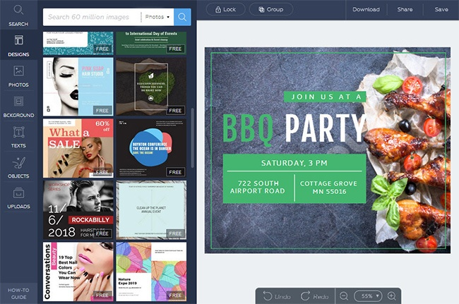 © crello.com  Инструмент отDepositphotos, который позволяет создавать свой графический дизайн