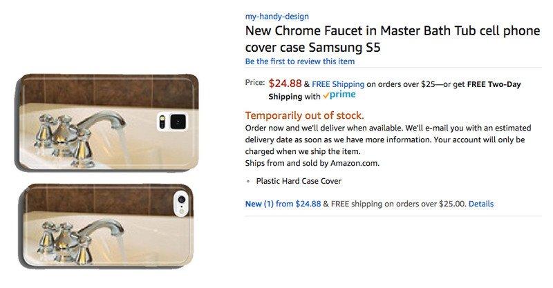Новый хромированный кран в ванной, чехол для Samsung S5. Всего в интернет-магазине предлагается поря