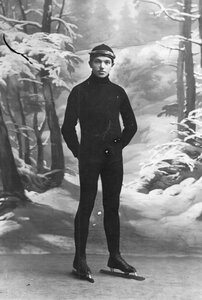 Спортсмен на беговых коньках
