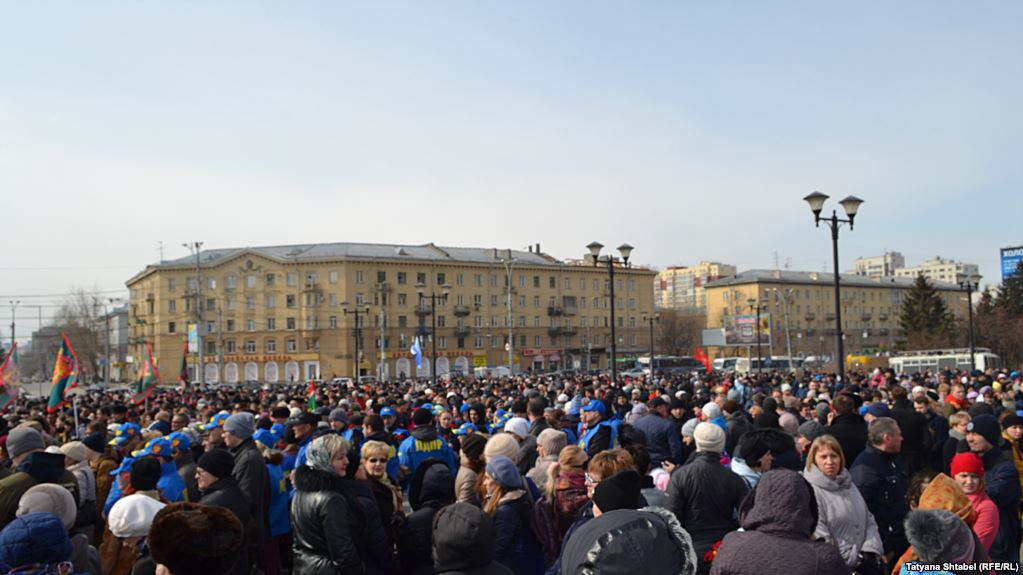 В Российской Федерации  митингуют против терроризма: в столицеРФ  задержали 6 человек