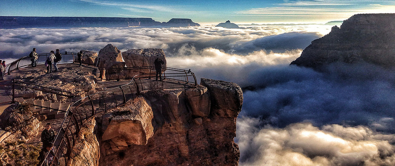 Rare Temperature Inversion Creates River of Clouds Inside the Grand Canyon