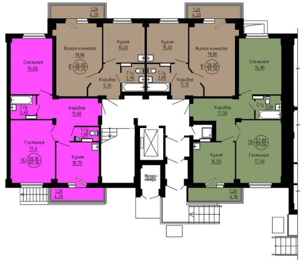 планировка 1 этаж подъезд 2.png