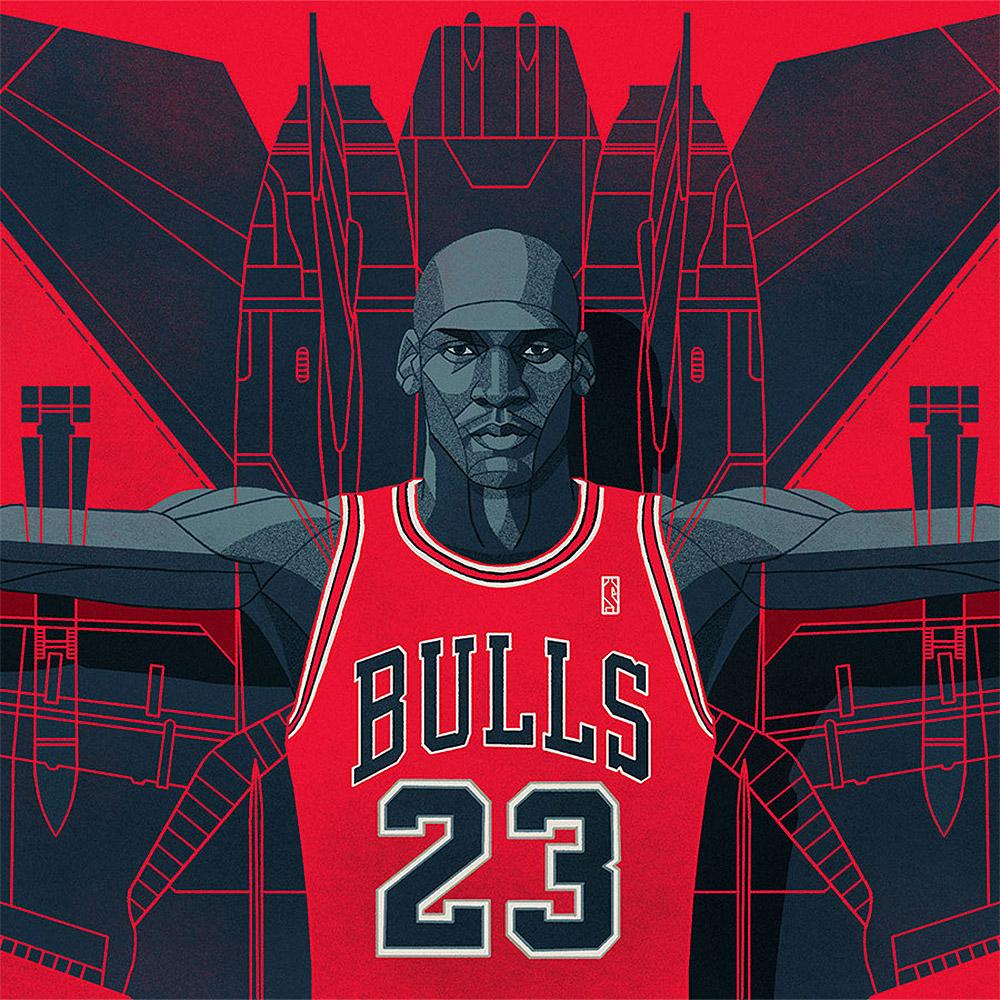 NBA Illustrations by Ryan Simpson