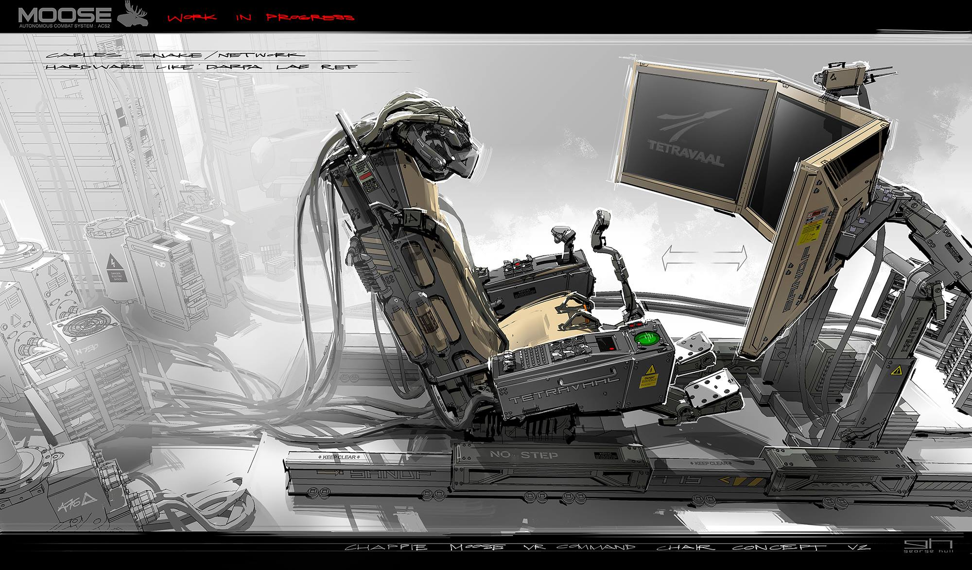Chappie Concept Art by George Hull