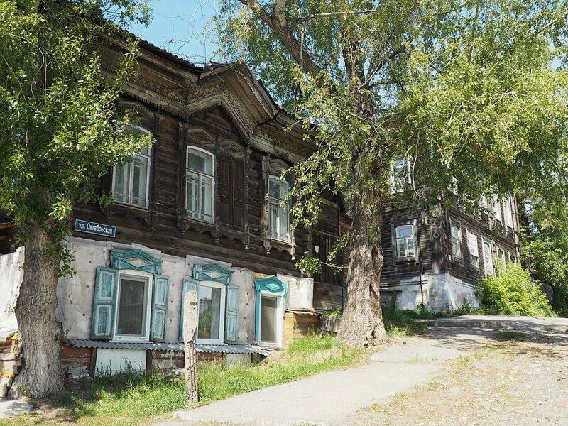 Томск, улица Октябрьская (Tomsk, Oktyabrskaya street)