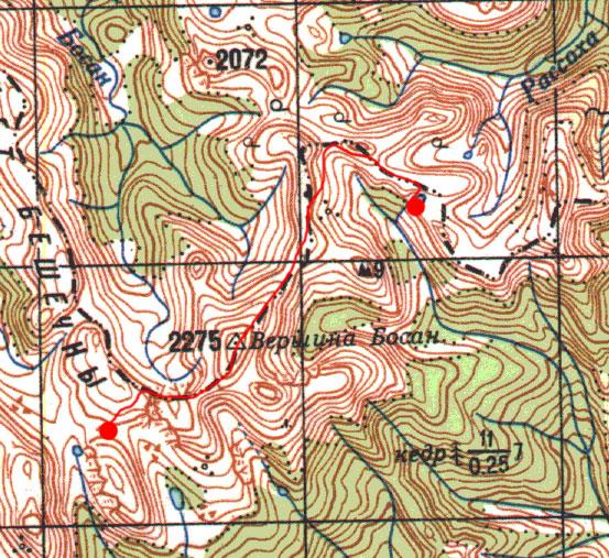 Карта маршрута 11 июня