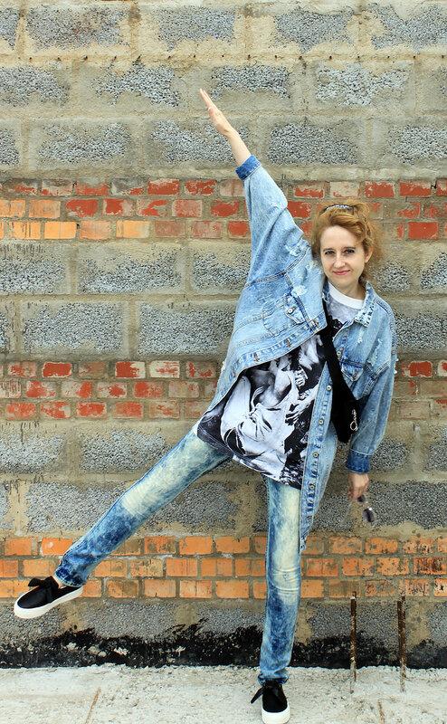Куртка - Pull&Bear, джинсы - H&M, сумка - Bershka, слипоны - Pull&Bear