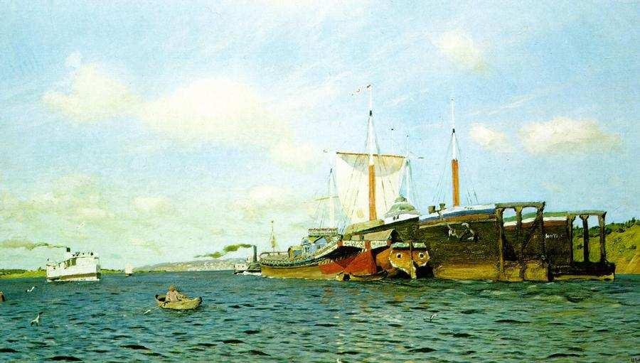 С днем Волги! И. Левитан. Свежий ветер. Волга. 1891-1895