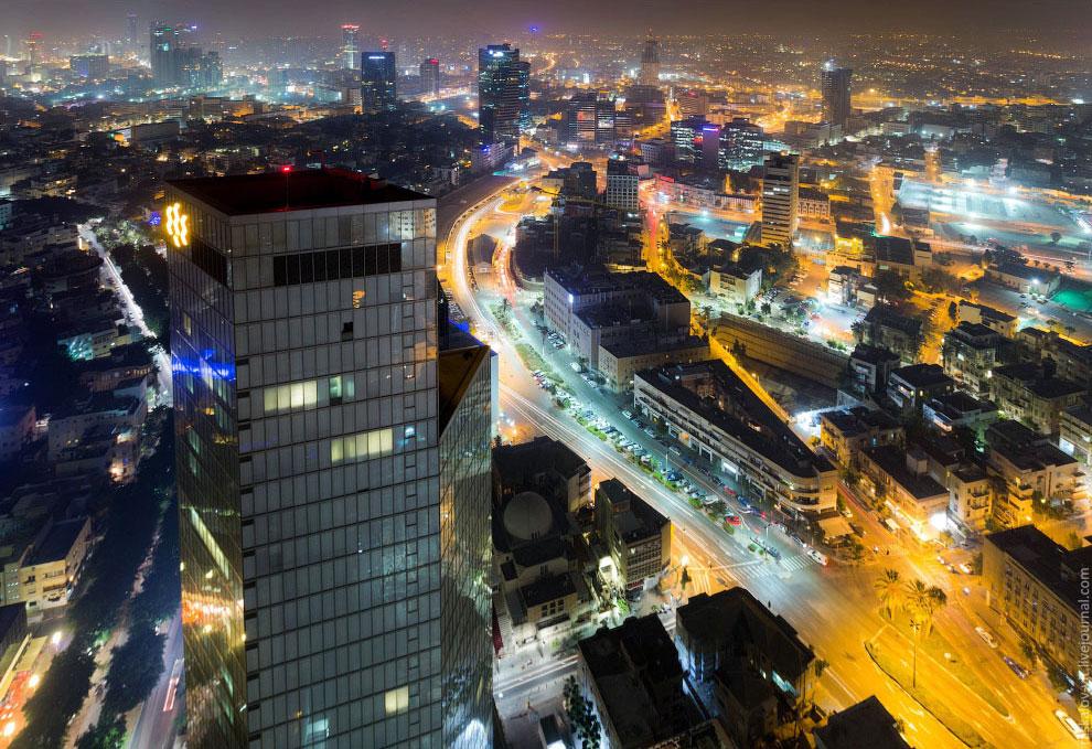 Вид с самого высокого здания Тель-Авива: