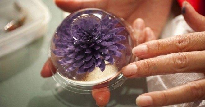 3D цветы в желе: инструменты Чайные и пластиковые ложки. Медицинские шприцы: на каждый цвет по отдел