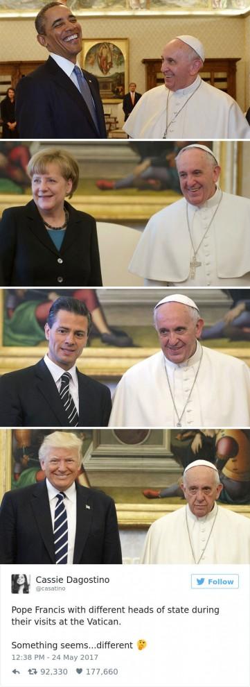 Папа Франциск, когда рядом нет Дональда Трампа.