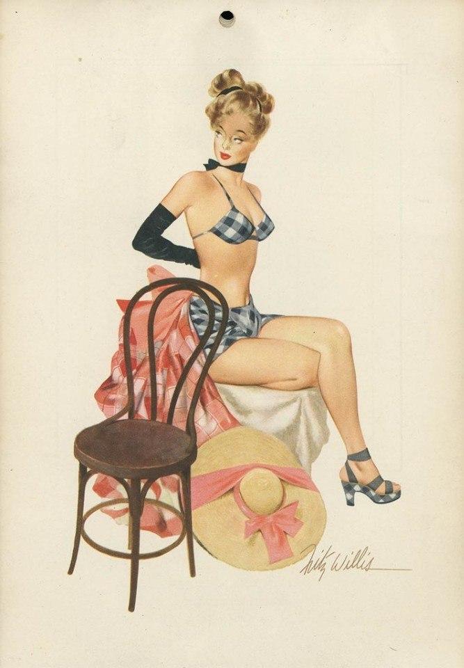 Pin-Up девушки из журнала Esquire, 1948 год (8 фото)