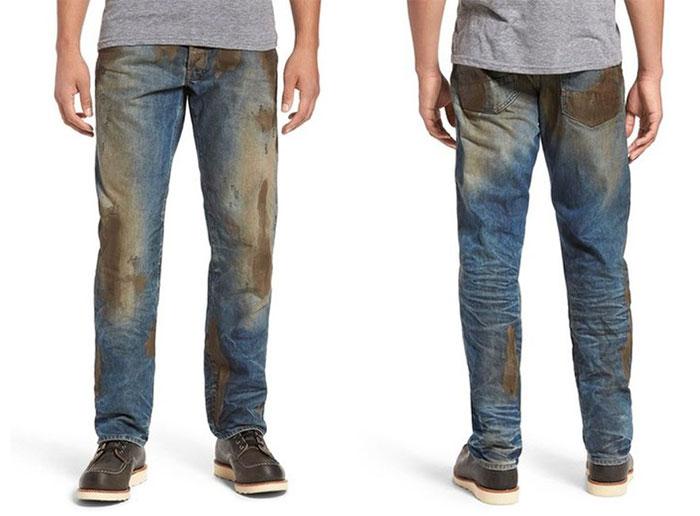 Джинсы с эффектом грязи от Nordstrom за 400 долларов.