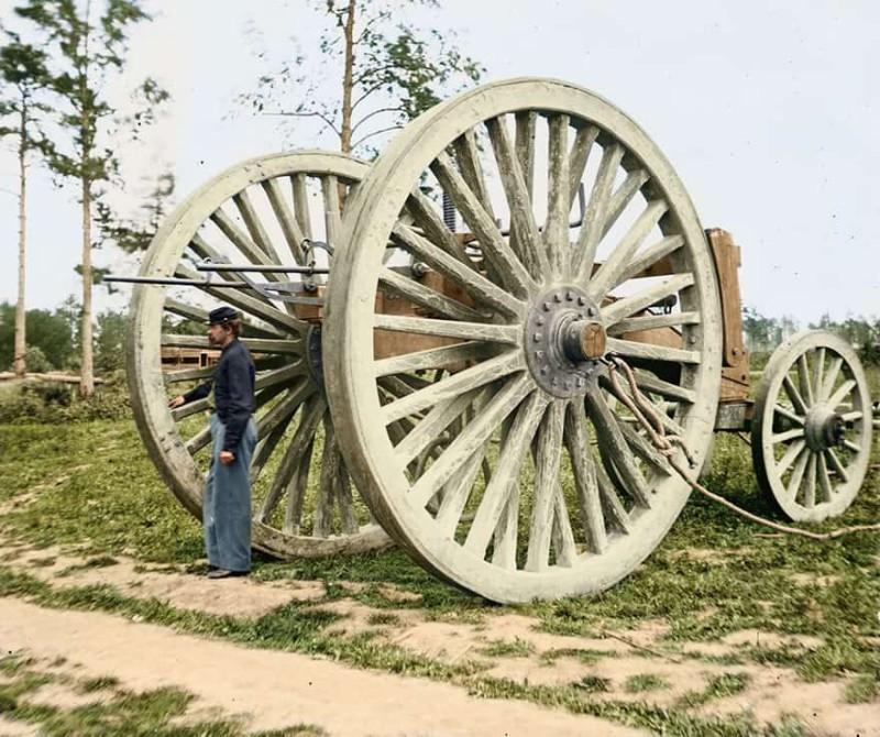Инженерное приспособление времен гражданской войны в Америке, 1865 год.