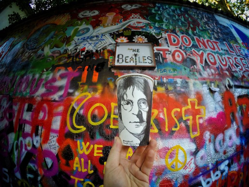 Портрет Леннона, Прага.
