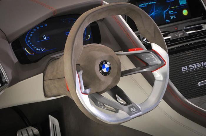 В облике машины угадываются черты концептуального купе Z9, а также британских Aston Martin. Машина б