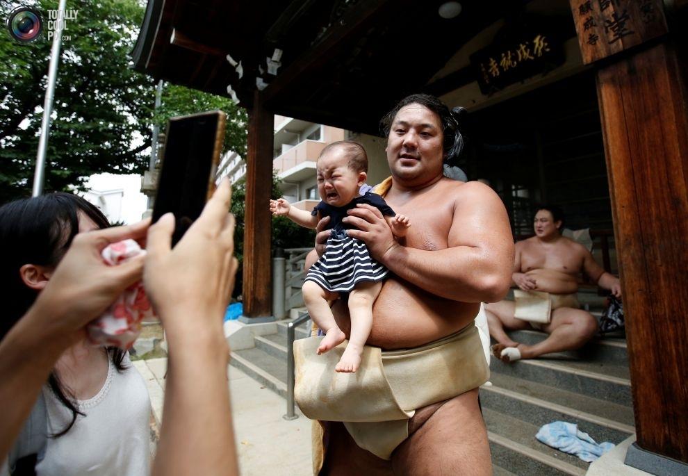 Редкие фотографии тренировок борцов сумо перед турниром в Нагое (15 фото)
