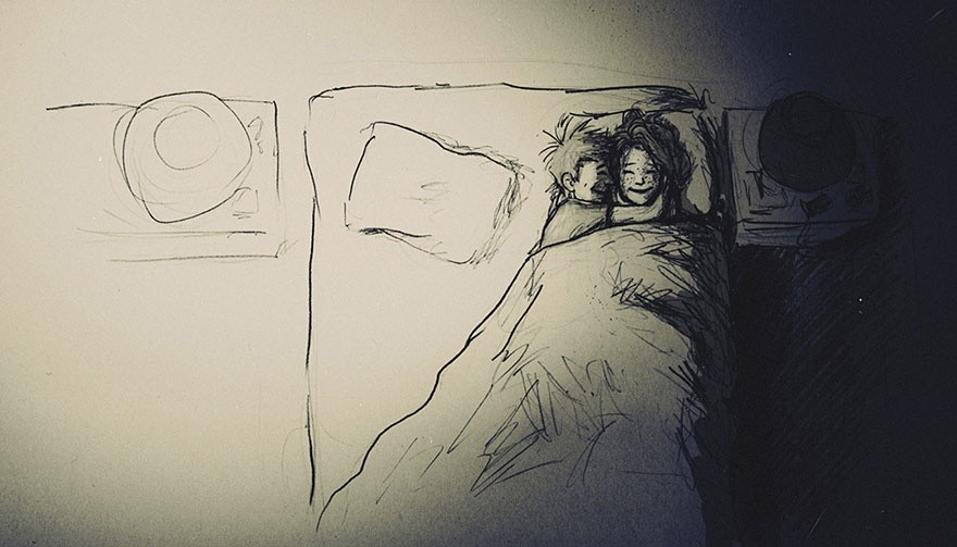 Художник иллюстрирует каждый день, прожитый с любимой женой (20 фото)