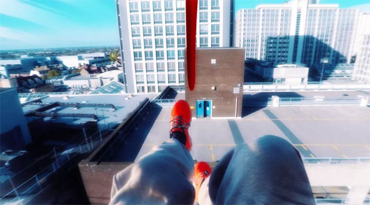 Recreating the game Mirror's Edge in real life (5 pics)