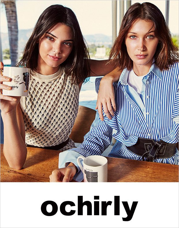 Bella Hadid & Kendall Jenner Pose for Ochirly Fall Winter 2017.18