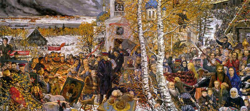 Илья Глазунов Раскулачивание 2010 Холст, масло 400х800