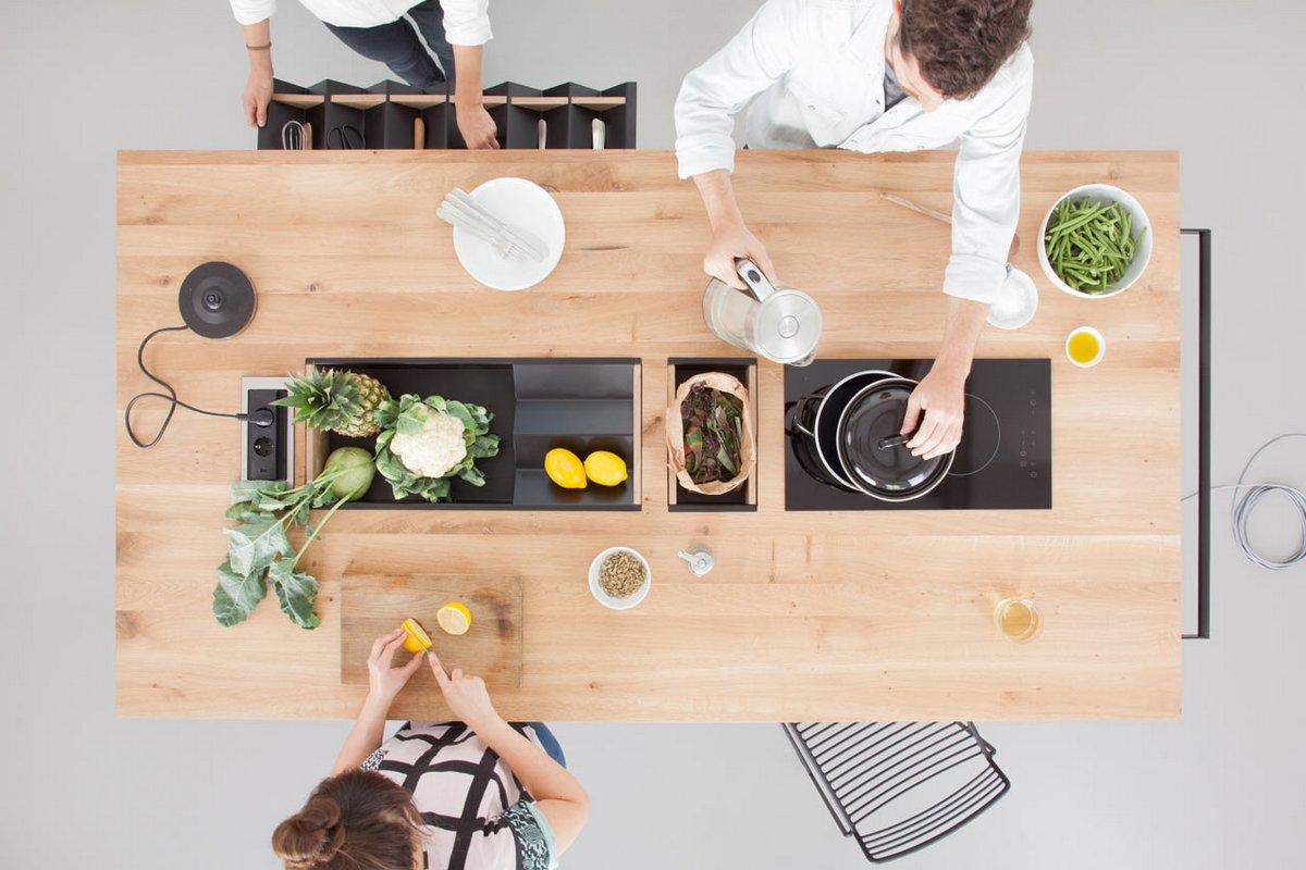 Мобильный кухонный остров OIKOS